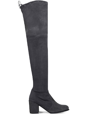 STUART WEITZMAN Tieland suede over-the-knee boots