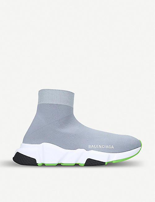 c587c019f BALENCIAGA Speed mid-top stretch-knit trainers