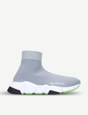 BALENCIAGA Speed mid-top stretch-knit trainers