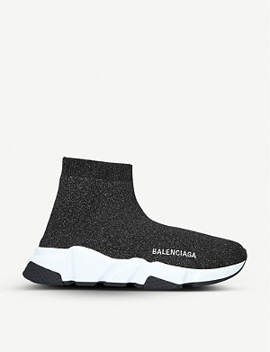 BALENCIAGA Speed woven mid-top trainers