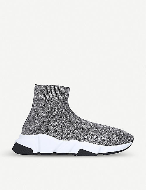 BALENCIAGA Speed knitted high-top trainers