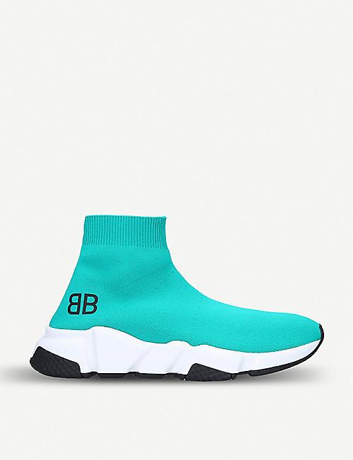 15c1699767e BALENCIAGA Speed mid-top knitted trainers. Balenciaga Speed High-Top  Sneakers. Topshop releases cheaper version of £595 Balenciaga trainers