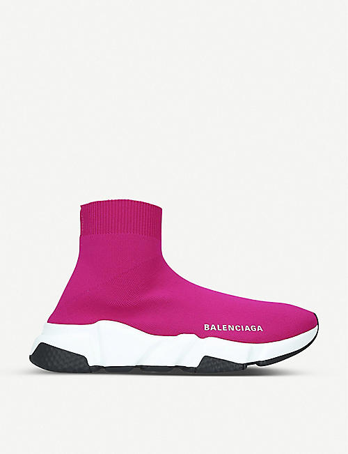 BALENCIAGA Speed Knit knitted mid-top trainers