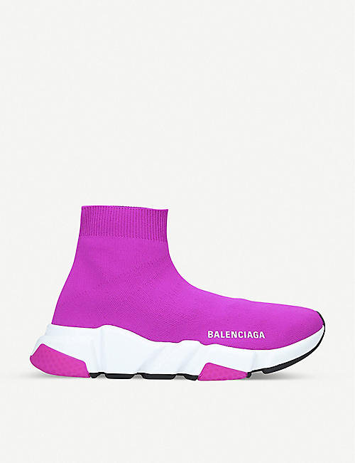 BALENCIAGA Speed knitted mid-top trainers