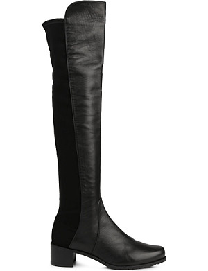 3220bd1617a STUART WEITZMAN · Reserve stretch-back leather boots