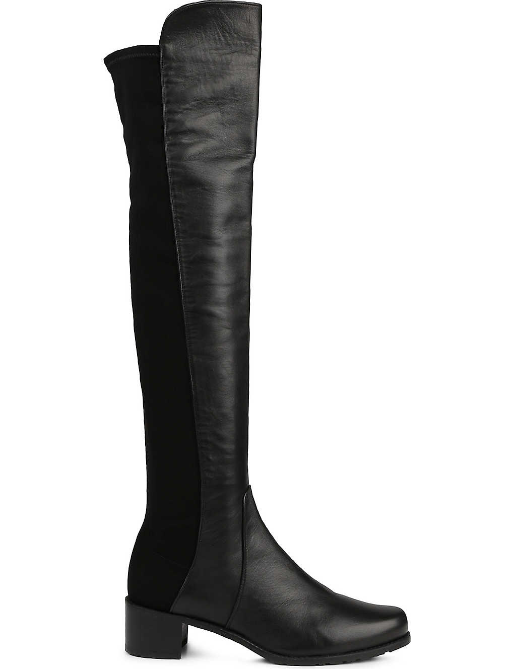 STUART WEITZMAN: Reserve stretch-back leather boots
