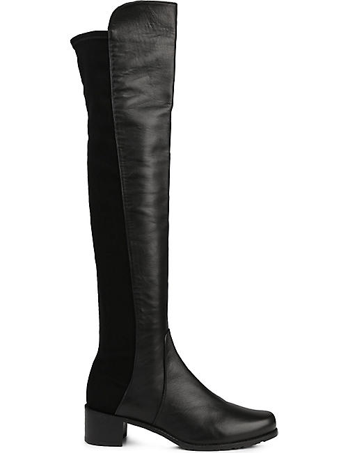 cb7b7095f37d STUART WEITZMAN Reserve stretch-back leather boots