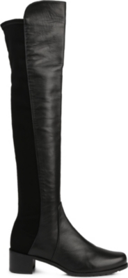 STUART WEITZMAN Reserve stretch-back leather boots