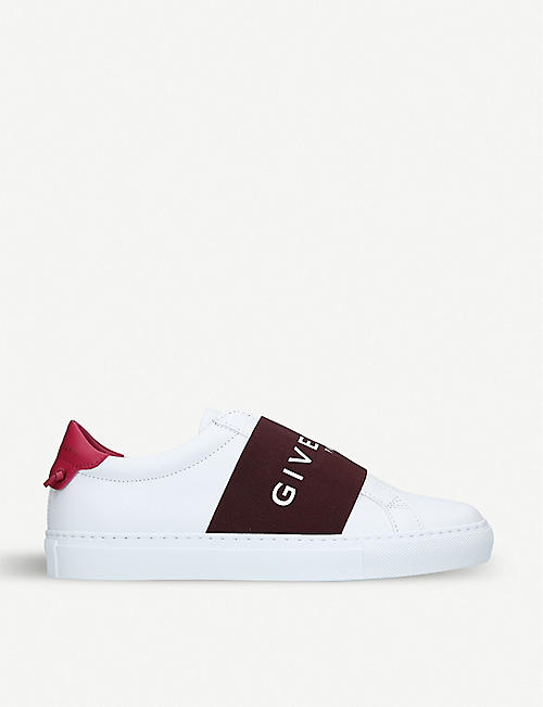 GIVENCHY Logo strap leather trainers