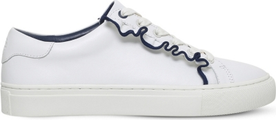 TORY BURCH Ruffle low-top leather trainers