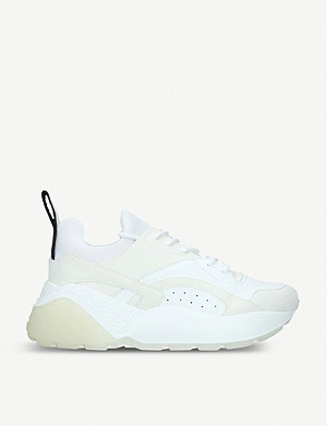 STELLA MCCARTNEY Eclypse platform woven trainers