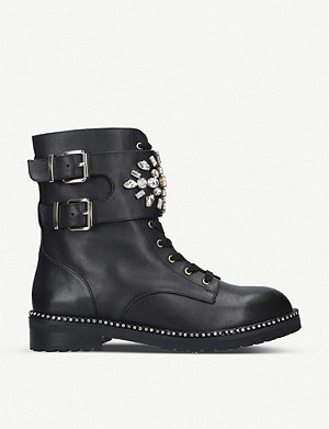 KURT GEIGER LONDON Stoop leather biker boots
