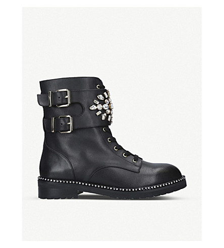 3d8af76fed Stoop Leather Biker Boots in Black