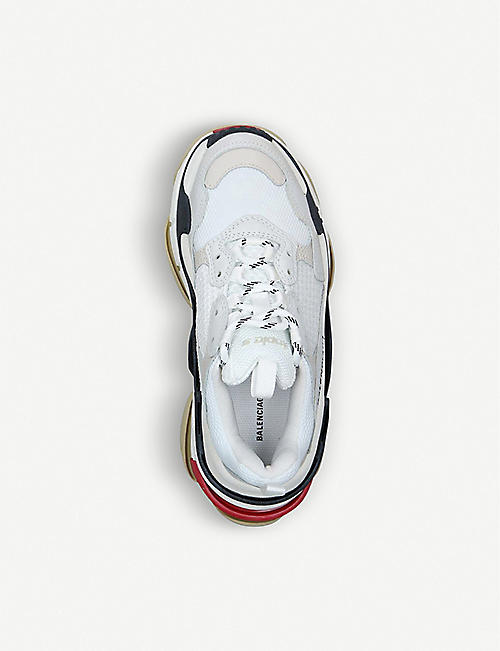8833e9b3ef BALENCIAGA Triple S leather and mesh trainers. CAPSULE COLLECTION. Quick  Shop