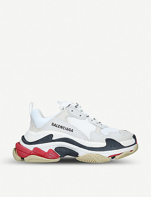 c4310d079 BALENCIAGA Triple S leather and mesh trainers