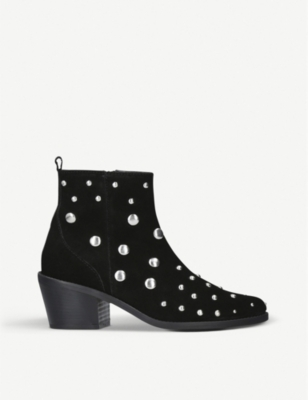 Dome Suede Embellished Chelsea Boots by Kurt Geiger London
