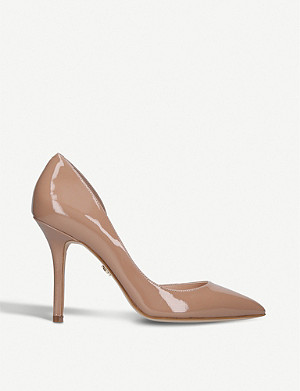 KURT GEIGER LONDON Belgravia patent heeled courts