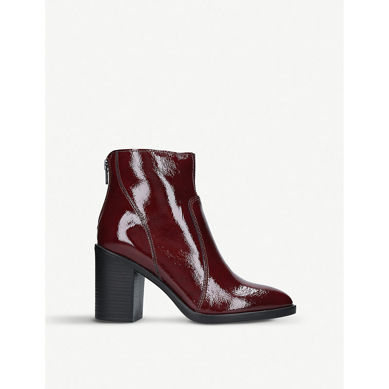 Sly Patent Leather Ankle Boots, Wine