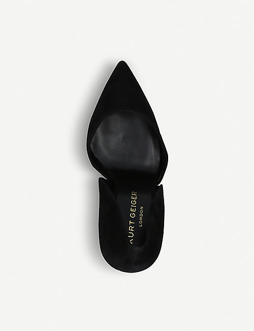 KURT GEIGER LONDON Bond satin court shoes