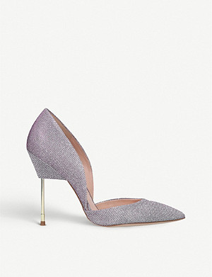 KURT GEIGER LONDON Bond textured glittered courts