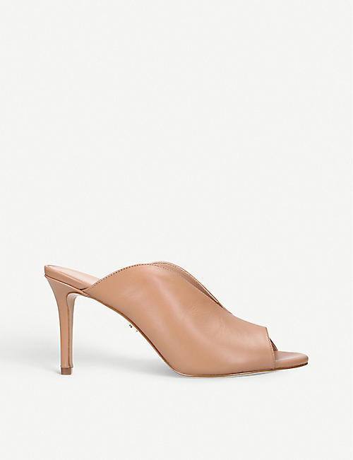 89256d40e8d KURT GEIGER LONDON Broadwick leather-heeled mules