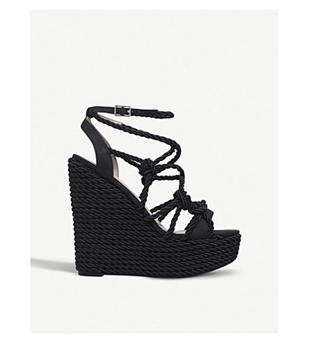 427137720 KURT GEIGER LONDON - Notty rope wedge sandals