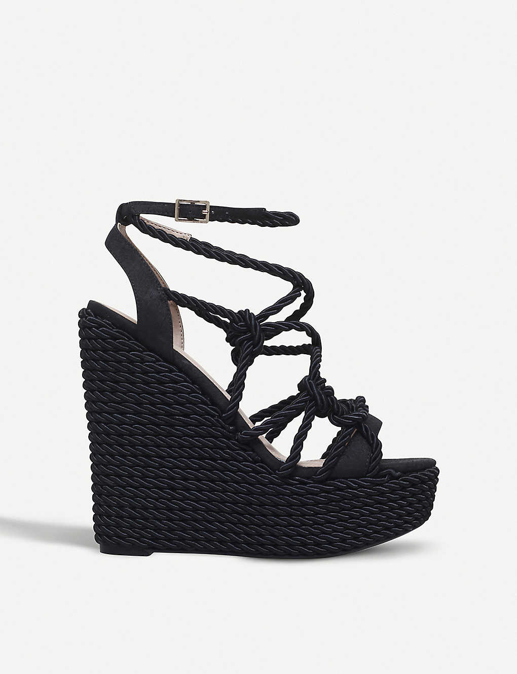 f2eaf765b4c KURT GEIGER LONDON - Notty rope wedge sandals | Selfridges.com
