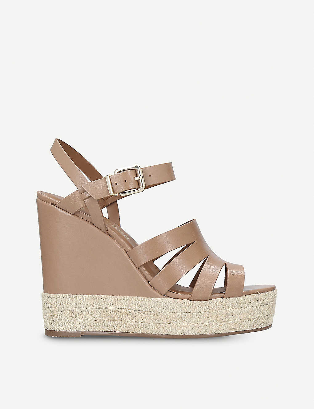 791e267a935 KURT GEIGER LONDON - Aura leather wedge sandals | Selfridges.com