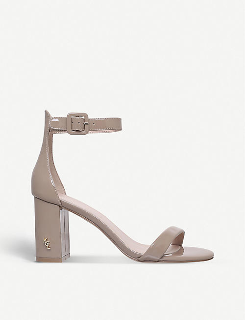 KURT GEIGER LONDON Langley patent-leather heeled sandals