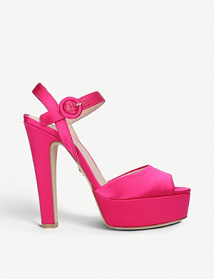 KURT GEIGER LONDON Molton suede peep-toe sandals