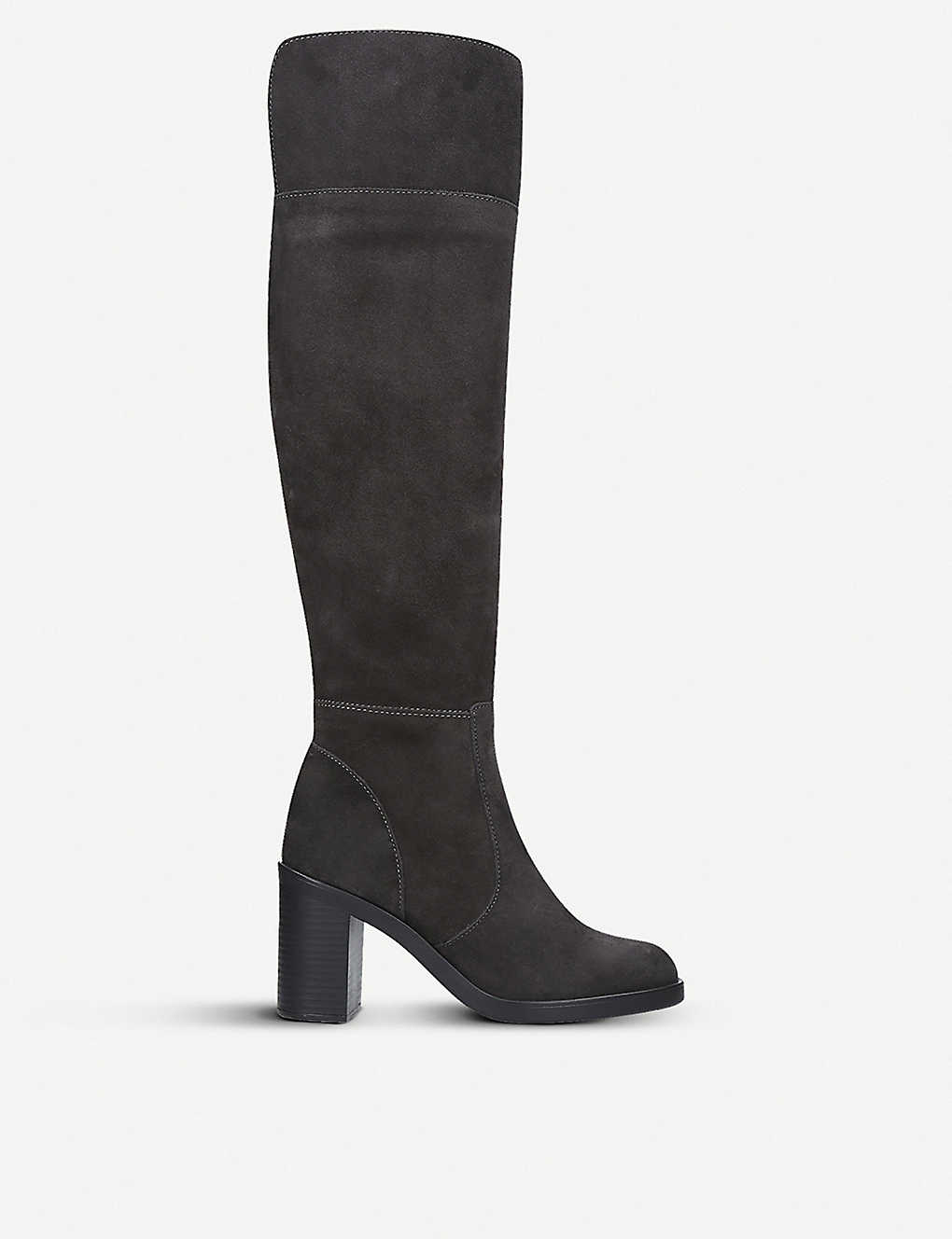 e71e4a55f93 KURT GEIGER LONDON - Tring suede over-the-knee boots