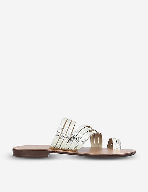 2d73841d516 KURT GEIGER LONDON Deliah metallic-leather sandals