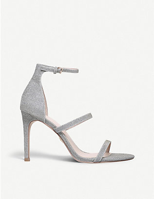 KURT GEIGER LONDON: Park Lane metallic sandals
