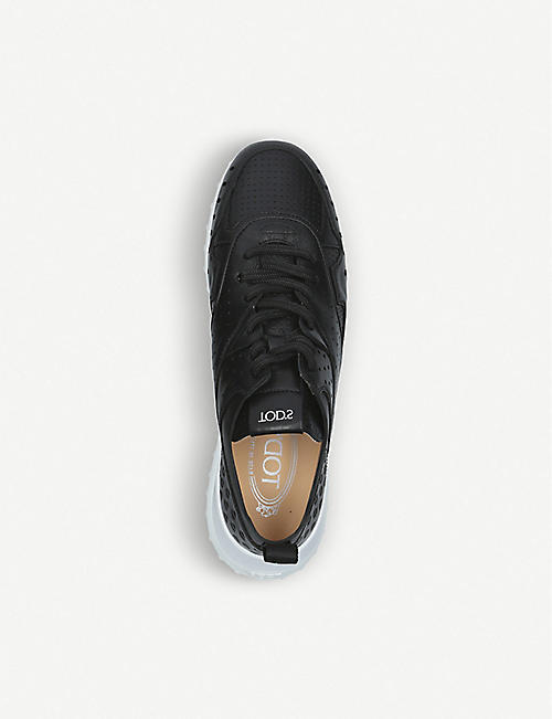 14bc024eb0f TODS Fon Sport leather trainers