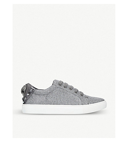 Ludo Embellished Metallic Trainers in Silver
