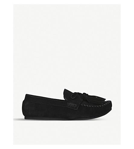 4fd80ab9e17 Kurt Geiger London Kace Tassel Suede Loafers In Black