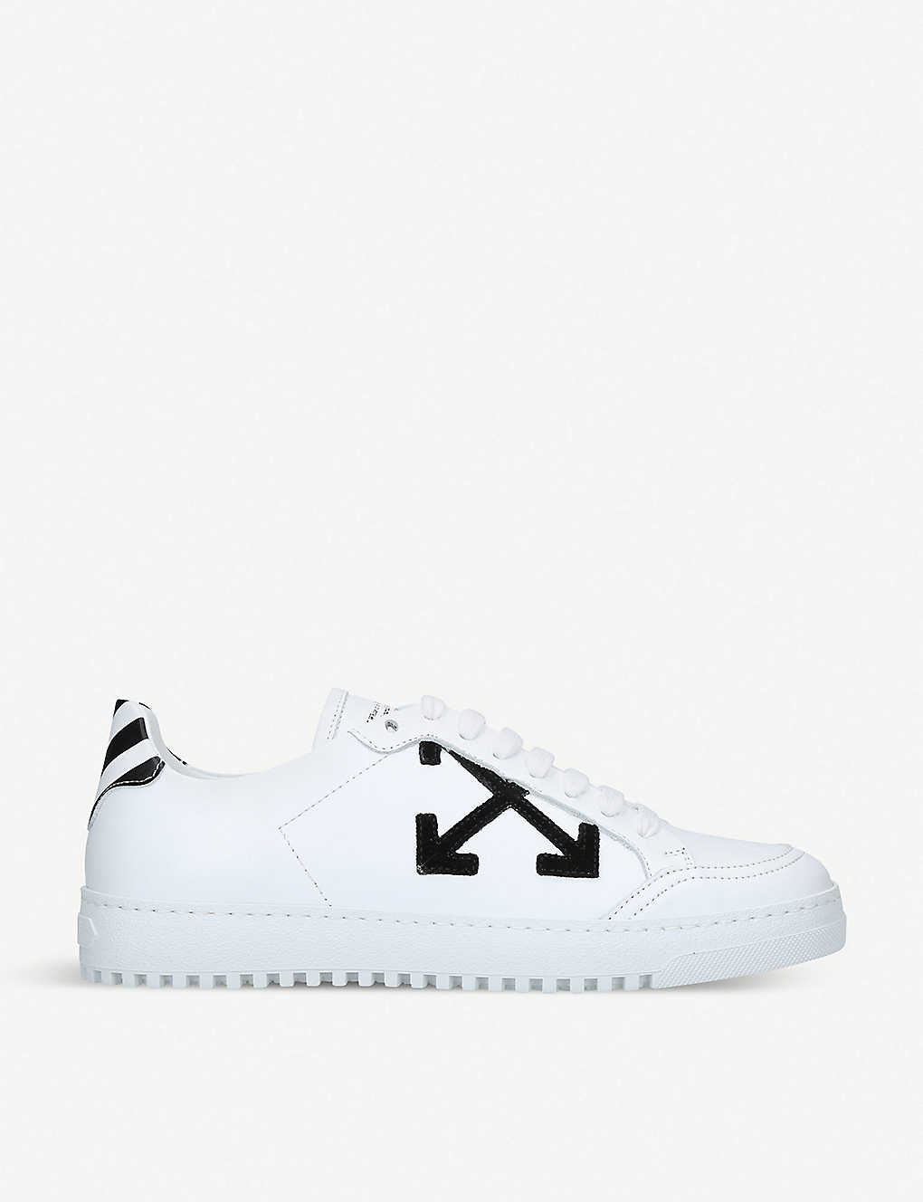 OFF-WHITE C/O VIRGIL ABLOH: Arrow leather trainers