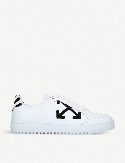 OFF-WHITE C/O VIRGIL ABLOH Arrow leather trainers