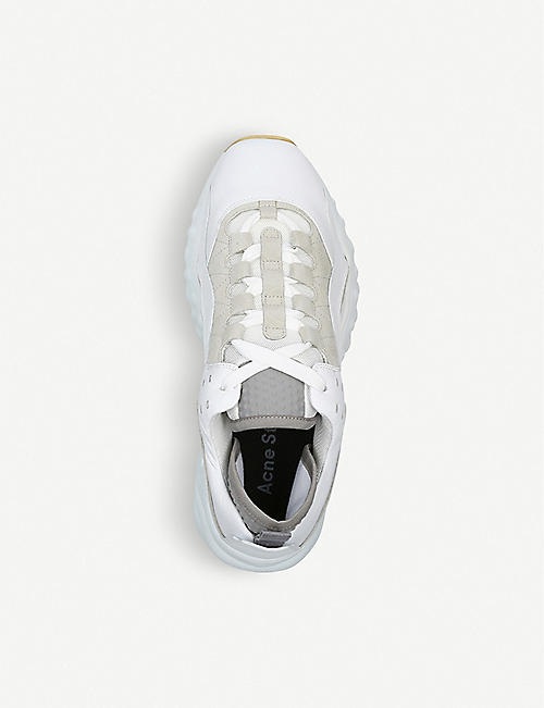 ACNE STUDIOS Manhattan leather, nylon and mesh trainers