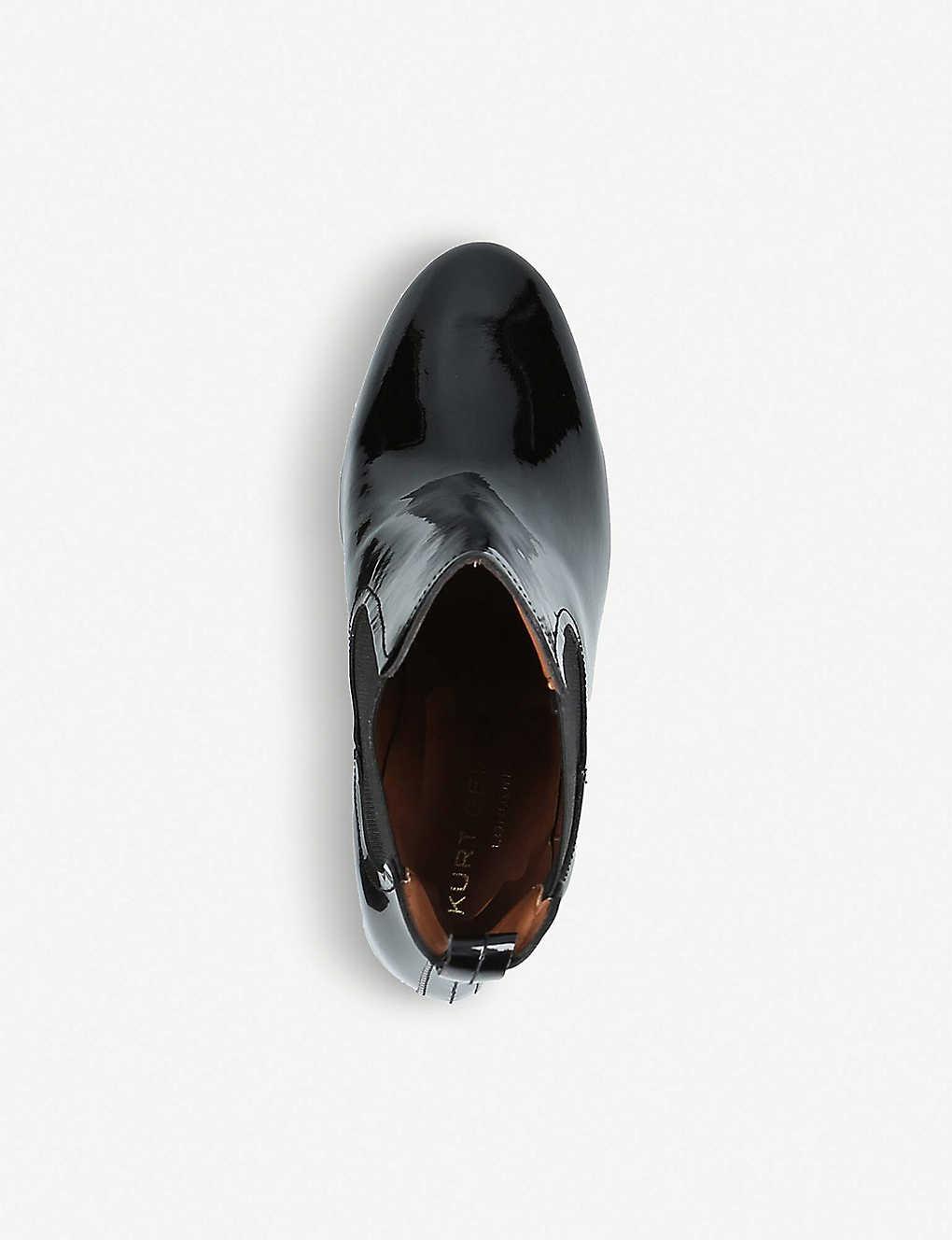 0965e3723f0e KURT GEIGER LONDON - Raylan heeled patent-leather ankle boots ...
