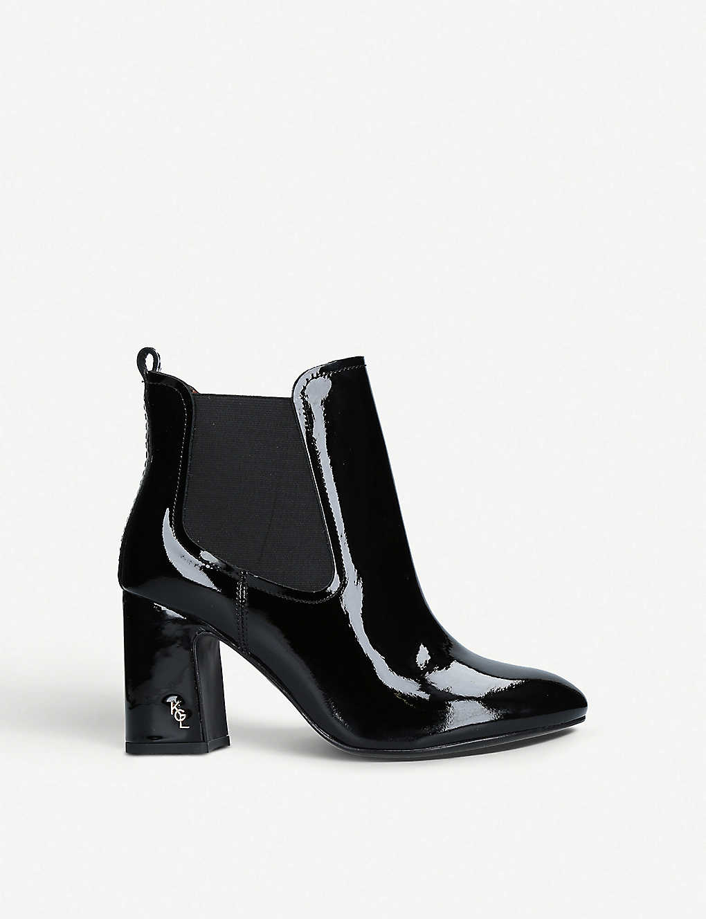 823854c5e67 KURT GEIGER LONDON - Raylan heeled patent-leather ankle boots ...