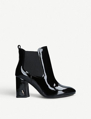 KURT GEIGER LONDON Raylan heeled patent-leather ankle boots