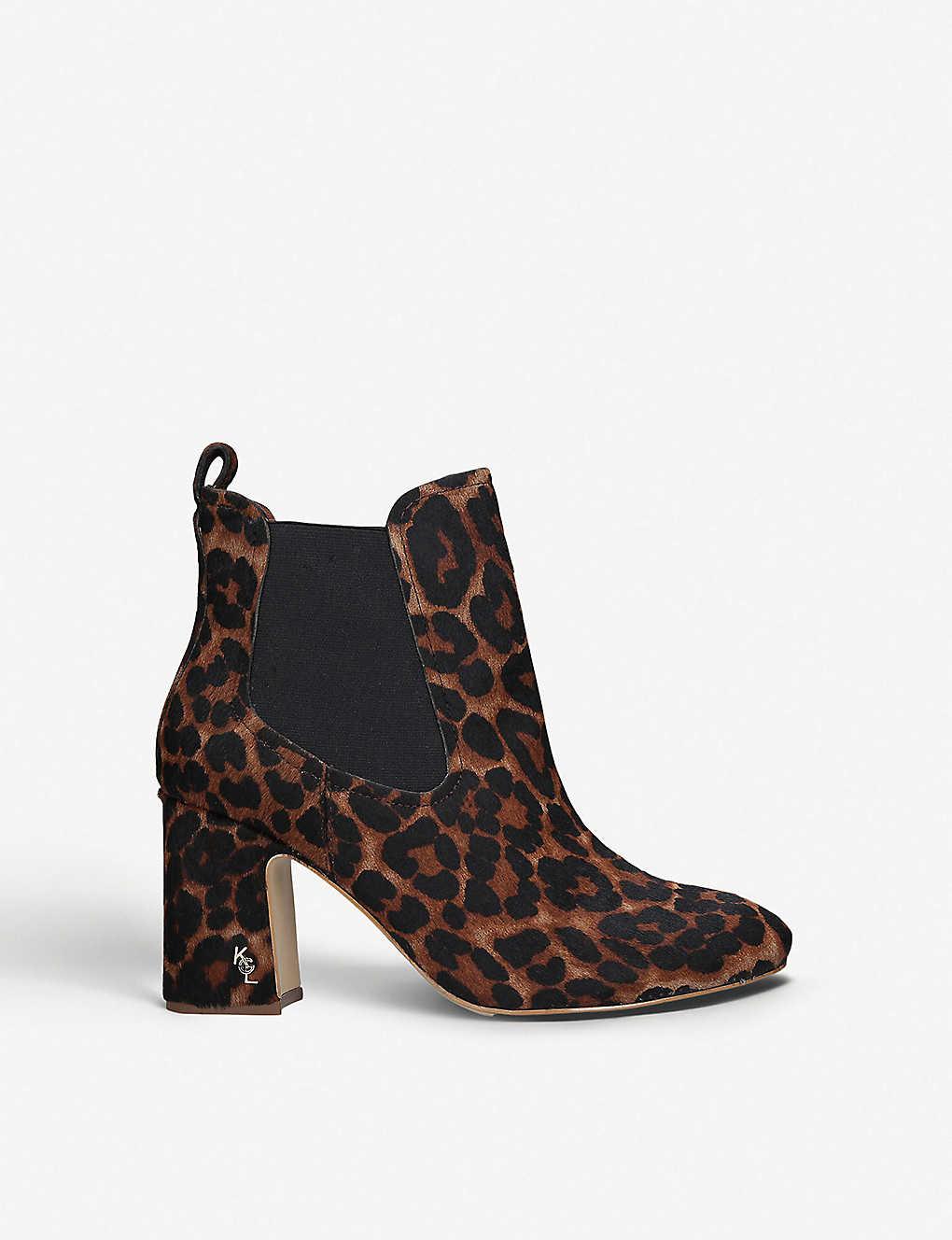 9a4c4af08de1 KURT GEIGER LONDON - Raylan leopard-print pony hair ankle boots ...
