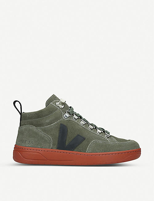 VEJA Roraima Bastille suede mid-top trainers