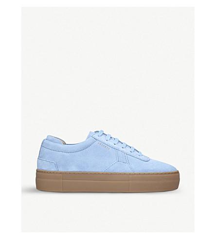 d259123bb83 AXEL ARIGATO Platform suede trainers (Pale+blue