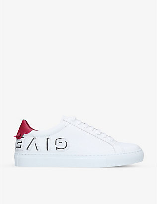 GIVENCHY: Urban Street logo-embossed leather trainers