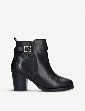 KURT GEIGER LONDON Kresent buckled leather ankle boots