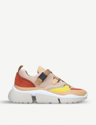 Sonnie colour-block low-top trainers - Nude