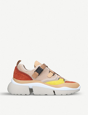 CHLOE Sonnie colour-block low-top trainers