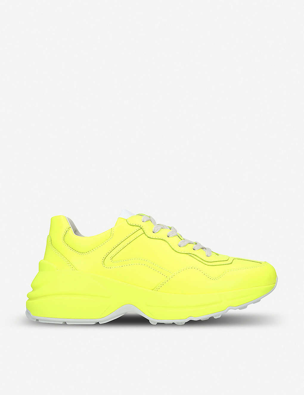 4ea5012c818 Rhyton neon leather trainers - Yellow ...